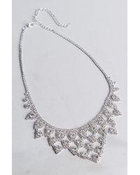 Akira - Metallic Good Advice Rhinestone Necklace - Lyst