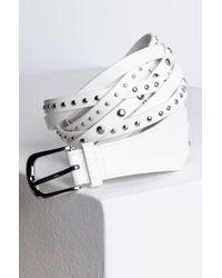 Akira White No Surrender Studded Belt