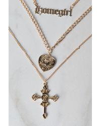 Akira - Metallic Homegirl Layered Necklace - Lyst