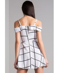 Akira White Make A Cameo Mini Dress