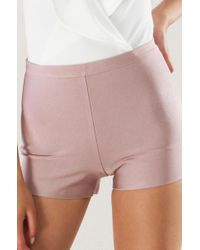 Akira | Multicolor Go Mad Bandage Highwaist Shorts | Lyst