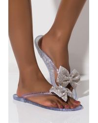 Akira Multicolor Wicked Games Bow Sandal Flat