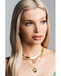 Akira - Multicolor Coin Toss Choker Necklace Set - Lyst