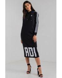 adidas Originals Bold Age Hoodie Sweatshirt Midi Dress