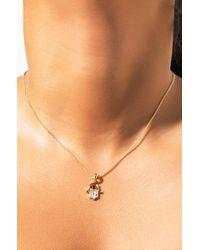 Akira Metallic Hamsa Hand Necklace