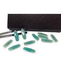 Akstar Gems Green Natural Amazonite Gemstone Charms