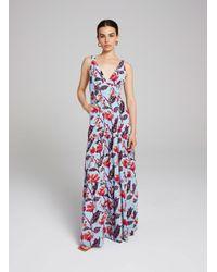 A.L.C. Blue Rae Silk Dress