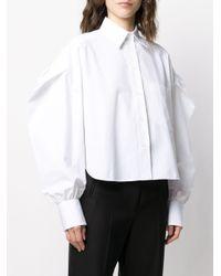 Camicia cropped di Valentino in White