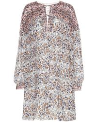 See By Chloé | Blue Cotton- Popeline Printed Dress | Lyst