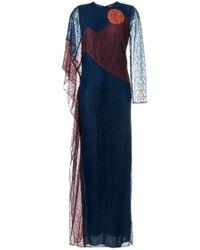 Tory Burch | Blue 'cecilia' Caftan Dress | Lyst