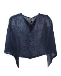 Al Duca d'Aosta | Blue Semi-sheer Knitted Short Cape | Lyst