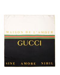 Gucci Multicolor Maison De L'amour Scarf