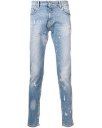 Jeans skinny sdruciti in colore azzurro di Represent in Blue da Uomo