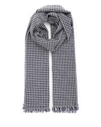 Al Duca D'aosta   Blue Check Embroidered Scarf for Men   Lyst