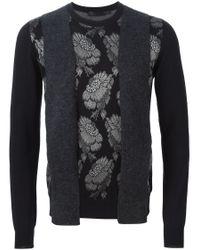 Alexander McQueen | Black Hibiscus Panel Sweater for Men | Lyst