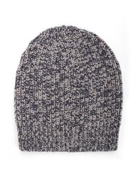 Brunello Cucinelli | Blue Cuffed Cashmere Ribbed Beanie for Men | Lyst