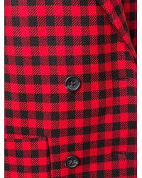 RED Valentino Red Cappotto Doppiopetto In Vichy