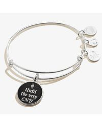 ALEX AND ANI Metallic Harry Potter Until The Very End Charm Bangle Shiny Silver