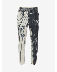 Alexander McQueen Trompe-l'œil Printed Cigarette Pants - マルチカラー
