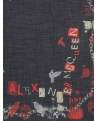 Alexander McQueen Black Punk Scarf for men
