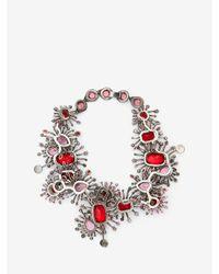 Alexander McQueen - Multicolor Jewelled Rose Choker - Lyst