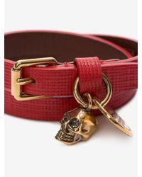 Alexander McQueen - Red Double-wrap Bracelet - Lyst