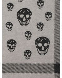 Alexander McQueen - Black Large Skull Shawl for Men - Lyst