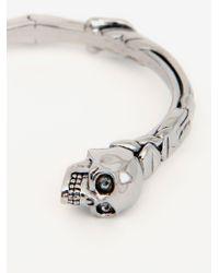 Bracelet twin texturé skull Alexander McQueen pour homme en coloris Metallic