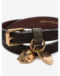 Alexander McQueen - Multicolor Double-wrap Glitter Bracelet - Lyst