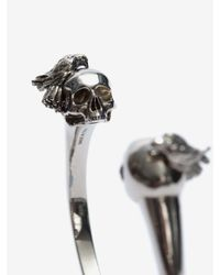 Alexander McQueen - Metallic Raven And Skull Bracelet for Men - Lyst