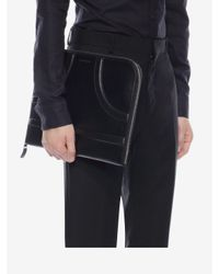 Alexander McQueen - Black Calf Leather Harness Portfolio for Men - Lyst