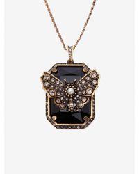 Alexander McQueen Metallic Butterfly Necklace
