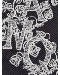 Alexander McQueen Krawatte Ivy Monogram in Black für Herren