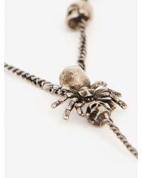 Alexander McQueen Halskette mit Spinnen und Skulls in Metallic für Herren