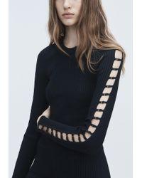 T By Alexander Wang Black Bra Strap Midi Dress