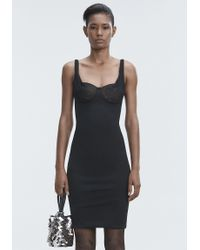 Alexander Wang Black Ruched Bodycon Dress