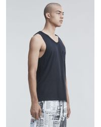 T By Alexander Wang - Black Tank With Pocket for Men - Lyst
