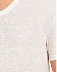 T By Alexander Wang - Natural Slub Rayon Silk Low Necktee for Men - Lyst