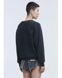T By Alexander Wang - Black Asymmetric Drape Sweatshirt - Lyst