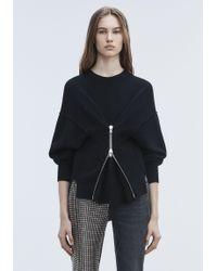 Alexander Wang Black Zipper Pullover