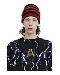 Alexander Wang - Red Striped Beanie - Lyst