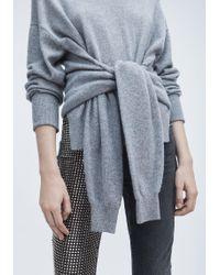 Alexander Wang Gray Deconstructed Sweater