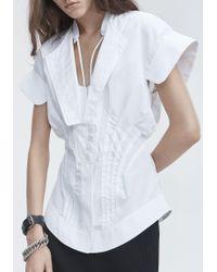 Alexander Wang White Deconstructed Poplin Shirt
