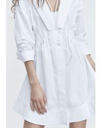 Alexander Wang White Deconstructed Poplin Dress