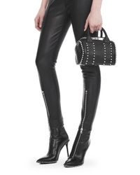 Alexander Wang - Exclusive Ball Stud Mini Rockie In Matte Black With Rhodium - Lyst