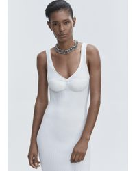 Alexander Wang White Ribbed Tank Gown