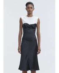 Alexander Wang Black Satin Twisted Cup Dress