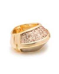Alexis Bittar - Metallic Asymmetrical Glitter Inlay Hinge Bracelet - Lyst