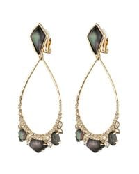 Alexis Bittar - Black Crystal Doublet Tear Drop Clip Earring You Might Also Like - Lyst