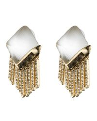 Alexis Bittar | Metallic Lucite Fringe Pyramid Clip Earring You Might Also Like | Lyst